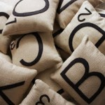 Today's Obsession: Scrabble Pillows