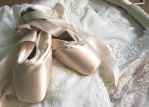 worn ballet shoes